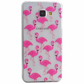 Недорогие Чехлы и кейсы для Galaxy A5(2016)-Кейс для Назначение SSamsung Galaxy A5(2016) / A3(2016) С узором Кейс на заднюю панель Животное Мягкий ТПУ