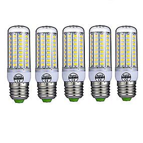 levne LED corn žárovky-5pcs 10 W LED corn žárovky 980 lm E26 / E27 T 72 LED korálky SMD 5730 Ozdobné Teplá bílá Chladná bílá 220-240 V / 5 ks / RoHs