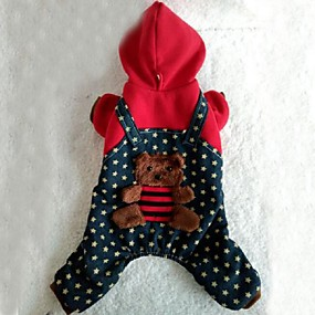 halpa Lemmikkieläinten Tarvikkeita-Koirat Takit / Hupparit Punainen Koiran vaatteet Talvi / 봄/Syksy Classic Loma / Muoti Lovoyager