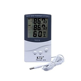 billiga Thermometers-KTJ Trådbunden Others Indoor and outdoor electronic hygrometer Ivory / Övrigt