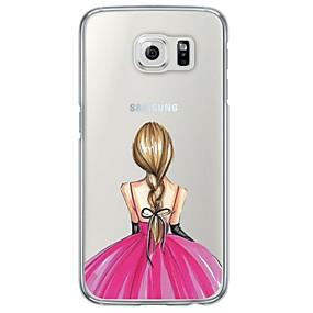 voordelige Galaxy S6 Edge Plus Hoesjes / covers-hoesje Voor Samsung Galaxy S7 edge / S7 / S6 edge plus Ultradun / Doorzichtig Achterkant Sexy dame Zacht TPU