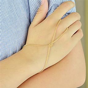 olcso Gyűrű karkötők-Női Gyűrű karkötők Az arany rabszolgái Személyre szabott Divat Ötvözet Karkötő ékszerek Ezüst / Aranyozott Kompatibilitás Parti Napi