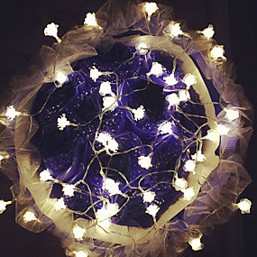 povoljno LED svjetla u traci-10m Žice sa svjetlima 100 LED diode Dip Led Toplo bijelo Vodootporno / Povezivo 1set / IP44