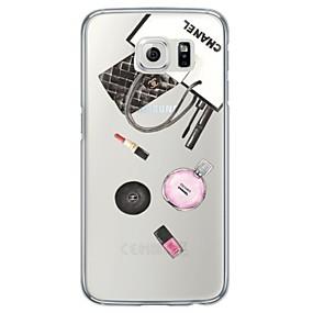 voordelige Galaxy S7 Edge Hoesjes / covers-hoesje Voor Samsung Galaxy S7 edge / S7 / S6 edge plus Ultradun / Doorzichtig Achterkant Tegel Zacht TPU