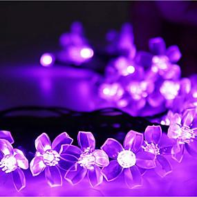رخيصةأون أضواء شريط LED-أضواء سلسلة 50 المصابيح تراجع LED أبيض دافئ / RGB / أبيض ضد الماء 100-240 V 1SET / IP44