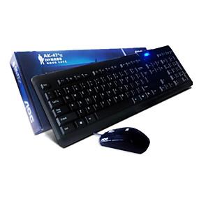 olcso Egér & Billentyűzetek-GIGABYTE AK-47 Vezetékes / USB vezetékes Office billentyűzet Csendes 104 pcs Kulcsok