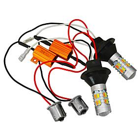 رخيصةأون مصابيح إشارات السيارات-JIAWEN 2pcs سيارة لمبات الضوء 25W SMD 5730 400lm LED ضوء إشارة اللف