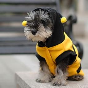 economico Prodotti Per Animali-Gatto Cane Costumi Felpe con cappuccio Animali Cosplay Abbigliamento per cani Giallo Costume Cotone XXS XS S M L XL
