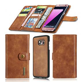 저렴한 Galaxy S7 케이스 / 커버-케이스 제품 Samsung Galaxy S7 edge / S7 지갑 / 카드 홀더 / 오리가미 전체 바디 케이스 솔리드 하드 진짜 가죽