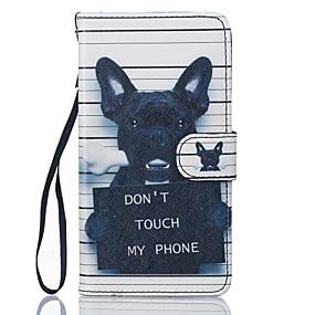 Недорогие Чехлы и кейсы для Galaxy J5(2016)-Кейс для Назначение SSamsung Galaxy J5 (2016) / J5 Кошелек / Бумажник для карт / со стендом Чехол С собакой Твердый Кожа PU