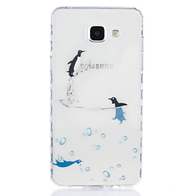 voordelige Galaxy A3(2016) Hoesjes / covers-hoesje Voor Samsung Galaxy A5(2016) / A3(2016) Transparant / Patroon Achterkant dier Zacht TPU