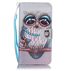 Недорогие Чехлы и кейсы для Galaxy A5(2016)-Кейс для Назначение SSamsung Galaxy A5(2016) / A3(2016) Кошелек / Бумажник для карт Чехол Сова Твердый Кожа PU