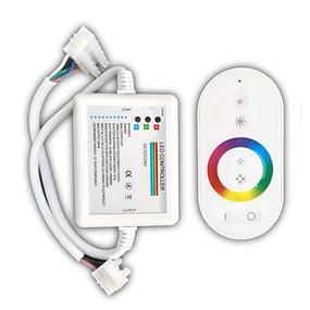 olcso LED szalagfény tartozékok-zdm 1pc fehér távirányító 216w vezeték nélküli érintés rbg led fénysávvezérlő / vevő dc12-24v