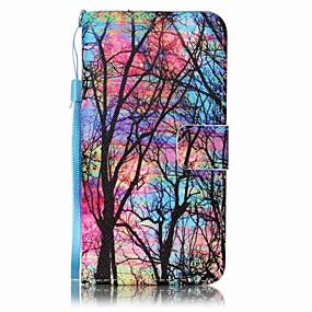 Недорогие Чехлы и кейсы для Galaxy J5-Кейс для Назначение SSamsung Galaxy J7 (2016) / J5 (2016) / J5 Кошелек / Бумажник для карт Чехол дерево Твердый Кожа PU
