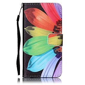 voordelige Galaxy J5 Hoesjes / covers-hoesje Voor Samsung Galaxy J7 (2016) / J5 (2016) / J5 Portemonnee / Kaarthouder Volledig hoesje Bloem Hard PU-nahka