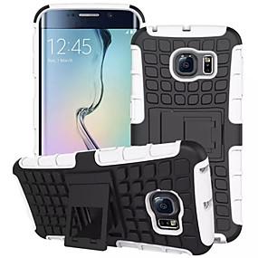 olcso Samsung tartozékok-Case Kompatibilitás Samsung Galaxy S7 edge / S7 / S6 edge Ütésálló / Állvánnyal Fekete tok Páncél PC