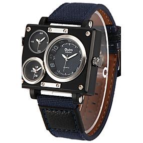 Недорогие Фирменные часы-Oulm Муж. Армейские часы Наручные часы Кварцевый На каждый день С тремя часовыми поясами Белый / Синий / Коричневый Аналоговый - Белый Черный Синий / Steampunk