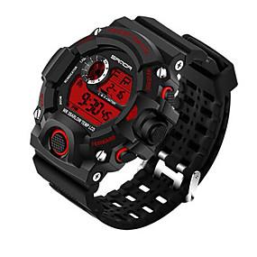 Недорогие Фирменные часы-SANDA Муж. Спортивные часы Смарт Часы Наручные часы Цифровой Японский кварц силиконовый Черный 30 m Защита от влаги Секундомер LED Цифровой Роскошь На каждый день Мода - / Нержавеющая сталь
