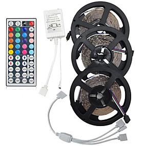 رخيصةأون شريط الضوء LED-ضوء مجموعات 900 المصابيح 3528 smd 8 ملليمتر rgb التحكم عن / rc / cuttable / عكس الضوء / linkable / مناسبة للمركبات / تغيير لون / ip44