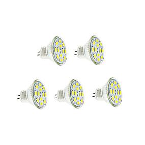 olcso BRELONG-5pcs 3 W Izzószálas LED lámpák 250-300 lm GU4(MR11) 12 LED gyöngyök SMD 5730 Meleg fehér Hideg fehér 12 V / 5 db.