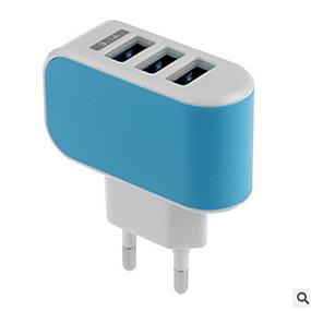 זול חדרי תצוגה של מותגים-מטען לבית מטען USB מחבר US / EU מחבר הטענה מהירה / מרובה חיבורים 3חיבוריUSB 3.1 A ל
