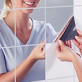 رخيصةأون ملصقات ديكور-مرايا ملصقات الحائط ملصقات الحائط على المرآة لواصق حائط مزخرفة تصميم ديكور المنزل جدار مائي جدار