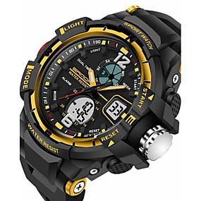 Недорогие Фирменные часы-SANDA Муж. Спортивные часы Смарт Часы Наручные часы Цифровой Японский кварц силиконовый Черный 30 m Защита от влаги Будильник Секундомер Аналого-цифровые Роскошь На каждый день Мода - / Два года