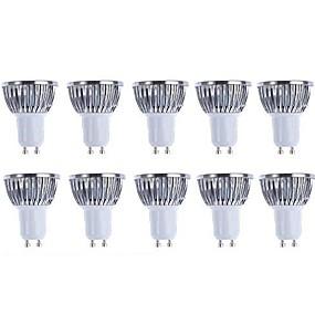 رخيصةأون الحديقة والمنزل-5 W LED ضوء سبوت 3000/6500 lm GU10 4 الخرز LED COB تخفيت أبيض دافئ أبيض 220-240 V 110-130 V / 10 قطع / بنفايات
