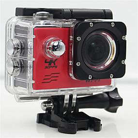 olcso Sportkamerák és GoPro tartozékok-SJ4K Akciókamera / Sport kamera GoPro Szabadtéri felfrissülés videonapló Wifi / Állítható / Széles látószög 32 GB 30 fps (képkocka per másodperc) 20 mp Nem 4608 x 3456 Pixel Síelés / Univerzalno