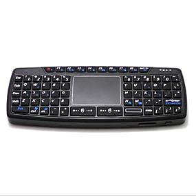 olcso Egér & Billentyűzetek-LITBest KB168 Vezeték nélküli / Vezeték nélküli 2,4 GHz-es Air Mouse Minii billentyűzet Csendes 69 pcs Kulcsok