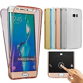 voordelige Galaxy J3 Hoesjes / covers-hoesje Voor Samsung Galaxy J7 (2016) / J7 / J5 (2016) Transparant Volledig hoesje Effen Zacht TPU