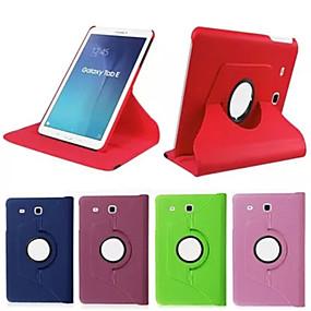 voordelige Galaxy Tab 4 8.0 Hoesjes / covers-hoesje Voor Tab S 10.5 / Tab S 8.4 / Samsung Galaxy Tab 4 10.1 / Tab 4 8.0 / Tab 3 7.0 360° rotatie / met standaard / Flip Volledig hoesje Effen PU-nahka
