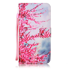 cheap Galaxy J3(2016) Cases / Covers-Case For Samsung Galaxy On 5 / J7 (2016) / J5 (2016) Wallet / Card Holder / Flip Full Body Cases Flower Hard PU Leather