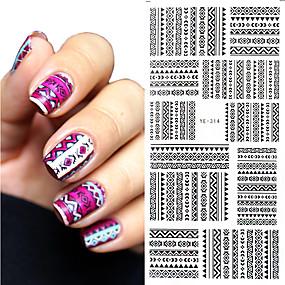 olcso Körömmatricák-1 Nail Art matrica Víz Transfer Matricák smink Kozmetika Nail Art Design