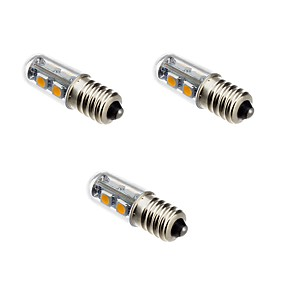 ieftine Becuri LED Corn-3pcs 1 W Becuri LED Corn 100-120 lm E14 T 7 LED-uri de margele SMD 5050 Alb Cald 220-240 V / 3 bc