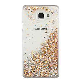 voordelige Galaxy A7(2016) Hoesjes / covers-hoesje Voor Samsung Galaxy A7(2016) / A5(2016) Stromende vloeistof Achterkant Glitterglans Hard PC