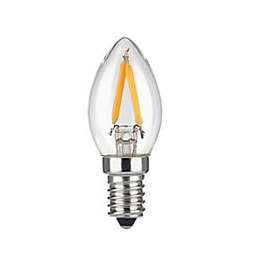 povoljno LED žarulje s nitima-KWB 1pc 2 W LED filament žarulje 1600 lm E12 2 LED zrnca COB Toplo bijelo 110-130 V / 1 kom. / RoHs