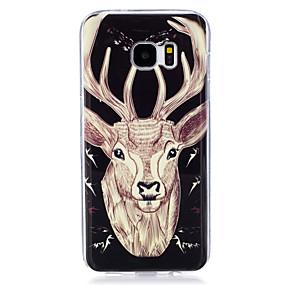 voordelige Galaxy S7 Hoesjes / covers-hoesje Voor Samsung Galaxy S7 edge / S7 / S6 edge Glow in the dark / IMD / Patroon Achterkant dier Zacht TPU