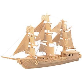 olcso Modellek és építőjáték-Fából készült építőjátékok Harcos Hajó szakmai szint Fa 1pcs Gyermek Fiú Ajándék