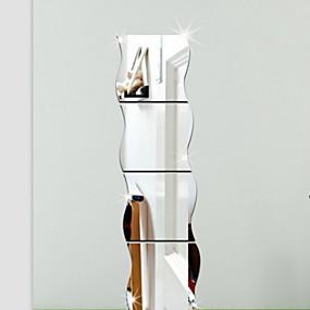 baratos Adesivos para Decoração-Formas 3D Adesivos de Parede Autocolantes de Parede Espelho Autocolantes de Parede Decorativos, Vinil Decoração para casa Decalque Parede