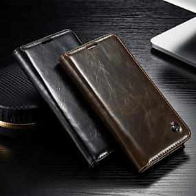 voordelige Galaxy S4 Hoesjes / covers-hoesje Voor Samsung Galaxy S5 / S4 Portemonnee / Kaarthouder / met standaard Volledig hoesje Effen PU-nahka