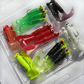 ieftine Momeală Pescuit-21 pcs Δόλωμα Momeală moale Broască mâncare Scufundare Bass Păstrăv Ştiucă Pescuit mare Pescuit de Apă Dulce Plastic moale