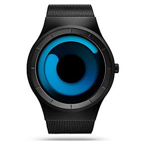 お買い得  トップブランド腕時計-SINOBI 男性用 スポーツウォッチ リストウォッチ クォーツ ステンレス ブラック 30 m 耐水 耐衝撃性 ハンズ ぜいたく カジュアル ユニーククリエイティブウォッチ かんたんウォッチ - ブルー ブラック / ブルー ホワイト / レッド 2年 電池寿命