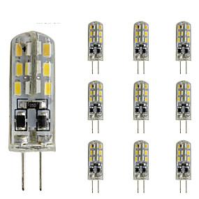ieftine Becuri LED Bi-pin-10 buc 1.5w subțire g4 led bec de cristal bi-pin 24 smd 3014 dc 12v verde albastru roșu lumina