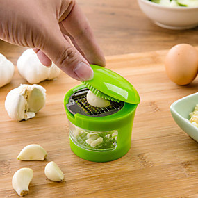 cheap Kitchen & Dining-Garlic Chopper Stainless Steel Garlic Press Ginger Mashing Machine Garlic Cutter