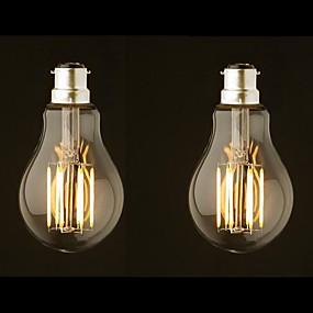 povoljno LED žarulje s nitima-ONDENN 2pcs 8 W LED filament žarulje 800 lm B22 G60 8 LED zrnca COB Zatamnjen Toplo bijelo 220-240 V 110-130 V / 2 kom. / RoHs
