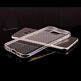 voordelige Galaxy S7 Hoesjes / covers-hoesje Voor Samsung Galaxy S8 Plus / S8 / S7 edge Transparant / Reliëfopdruk Achterkant Effen TPU