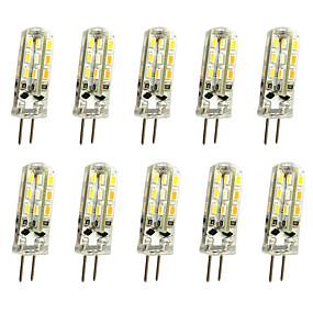 ieftine Becuri LED Bi-pin-10pcs 1 W Becuri LED Bi-pin 120 lm G4 T 24LED LED-uri de margele SMD 3014 Decorativ Alb Cald Alb Rece 12 V / 10 bc / RoHs