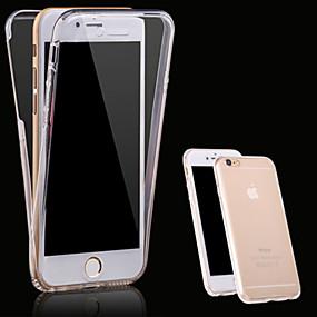 olcso Kiárusítás-Case Kompatibilitás Apple iPhone X / iPhone 8 Plus / iPhone 8 Átlátszó Héjtok Egyszínű Puha TPU