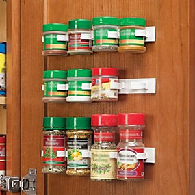 رخيصةأون ترتيب الجدران و المطبخ-زجاجة المطبخ التوابل منظم رف خزانة باب التوابل مقاطع 20-مقطع مجموعة
